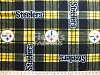 Fleece Pittsburgh Steelers NFL Plaid Football Team Sports Fleece Fabric Print by the yard (s6395df)