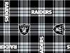 Fleece Oakland Raiders NFL Football Plaid Fleece Fabric Print by the yard (s6415df)
