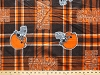 Fleece Cleveland Browns Plaid NFL Football Sports Team Fleece Fabric Print By the Yard (s6442df)