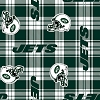 Fleece New York Jets NFL Football Plaid Fleece Fabric Print by the yard (s6449df)