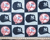Fleece (not for masks) New York Yankees Square MLB Baseball Fleece Fabric Print by the yard