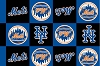 Fleece (not for masks) New York Mets Boxes MLB Baseball Fleece Fabric Print by the yard
