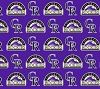 Cotton Colorado Rockies on Purple MLB Baseball Sports Team Cotton Fabric Print by the Yard