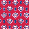 Cotton Philadelphia Phillies on Red MLB Baseball Sports Team Cotton Fabric Print by the Yard