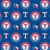 Cotton Texas Rangers on Blue MLB Baseball Sports Team Cotton Fabric Print by the Yard