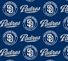 Cotton San Diego Padres on Blue MLB Baseball Sports Team Cotton Fabric Print by the Yard