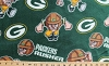 Fleece Green Bay Packers Rush Zone Rusher NFL Football Sports Pro Team Fleece Fabric Print by the Yard (s6704df)