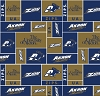 University of Akron Zips (Zippy The Kangaroo) College Fleece Fabric Print