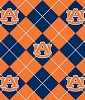 University of Auburn™ Tigers™ Argyle College Fleece Fabric Print
