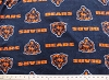 Micro Plush Mink-Like Cuddle Feel Chicago Bears NFL Football Sports Team Fabric by the Yard (c6378df)