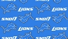 Micro Plush Mink-Like Cuddle Feel Detroit Lions NFL Football Sports Team Fabric by the Yard (sc6408df)