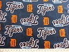 Coral Cuddle Micro Plush Detroit Tigers MLB Baseball Team Mink-Like Cuddle Feel Fabric Print by the Yard (sc6593bf)