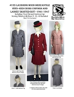 Ladies Red Cross Uniform & Skirted Suit circa 1914-1946 Sewing Pattern #139 (Pattern Only) Laughing Moon Mercantile Lmm139
