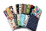 10 Fat Quarters - Seamstress Quilting Quilter's Sewing Machine Bernina Singer Quilt Guild Shop Hop Crafts Patchwork Assorted Quality Quilters Cotton Fabric M226.05