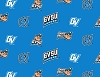 (1 yard pieces) FLEECE Grand Valley State University Lakers GVSU Turquoise College Fleece Fabric Print