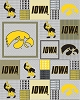 College University of Iowa Hawkeyes Print Fleece Fabric by the yard #siowa158s
