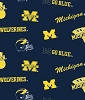 University of Michigan™ Wolverines™ Dark Navy Bright Yellow Cotton Fabric Print