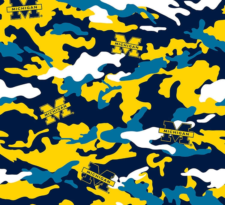 Cotton University of Michigan™ Wolverines™ Camouflage College Cotton ...
