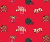 University of Maryland™ Terrapins™ Terps College Fleece Fabric Print