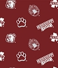 Mississippi State University™ Bulldogs™ College Fleece Fabric Print