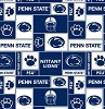 PSU Penn State University™ Nittany Lions™ College Fleece Fabric Print