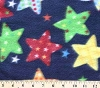 Multi Stars on Navy Star Fleece Fabric Print by the Yard o16starsg