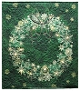 Starry Night Wreath Panel Holidays Christmas Quilt Wall-Hanging Fabric Kit - Evergreen Green - Sold by the Kit (M230.04)