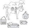 Suitability 7291 Saddle and Hay Bags Equestrian Sewing Pattern