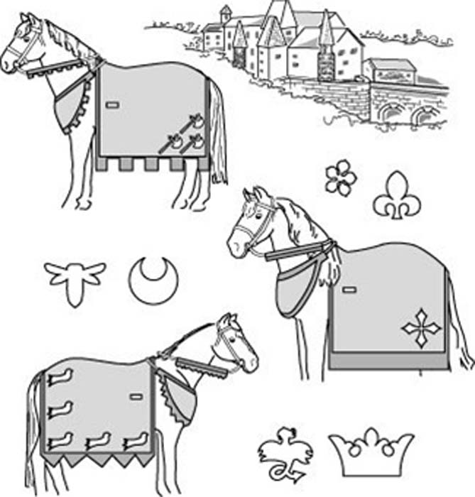 Suitability 9130 Medieval Horse Costume Pattern (With Rump Cover ...