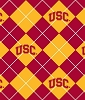 USC, University of Southern California™ Trojans™ Argyle College Fleece Fabric Print