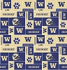 University of Washington™ Huskies™ College Fleece Fabric Print