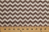Cotton Brown and White Chevron Stripes Chevrons Zig Zags Zigzags Striped Cotton Fabric Print by the Yard (t-00276-whitechevron)