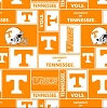 University of Tennessee® Volunteers® College Fleece Fabric Print