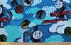 Thomas the Train Railroad Tracks Kids Fleece Fabric Print by the Yard k75147b