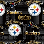 Cotton Pittsburgh Steelers NFL Pro Football Cotton Fabric Print by the yard (14450d)