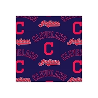 Fleece Cleveland Indians on Navy MLB Baseball Print Fleece Fabric by the Yard ( s14490b)