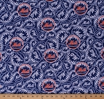 Cotton New York Mets MLB Baseball Sports Team Cotton Fabric Print by the Yard