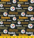 Cotton Pittsburgh Steelers Glitter NFL Pro Football Cotton Fabric Print