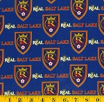 Cotton Real Salt Lake Royals MLS Major League Soccer Cotton Fabric Print