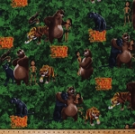 Fleece (not for masks) The Jungle Book Characters Mowgli Baloo Bagheera Shere Khan Kaa