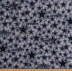 Fleece Dallas Cowboys Grey NFL Football Fleece Fabric Print by the yard (14451D)