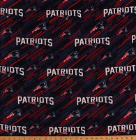 Fleece New England Patriots NFL Football Fleece Fabric Print by the Yard (6827D)
