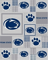Fleece Penn State University PSU Nittany Lions Grey Patchwork College Sports Team Fleece Fabric Print by the Yard (spenn158s)
