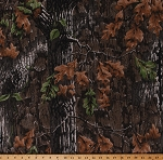 Camo Knit Treebark® by Lynch™ Superflauge™ Camouflage Hunting Brown Green Leaves 60