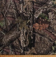 Mossy Oak Camo Knit Camouflage Branches Leaves Single-Sided 2-Way Stretch Soft Lightweight 60