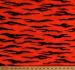 Tiger Stripes Faux Fur Single-Sided Hot Orange Animal Print 60