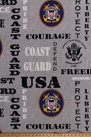 Fleece United States of America Coast Guard USA Patriotic Military Helicopter Helicopters Patriotic Stars and Stripes American Eagle Fleece Fabric Print by the Yard (1196CGS)