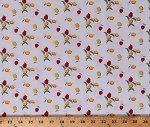 Cotton Tulips Flowers Dutch Plants Red Yellow White Sugar Sack 2 Cotton Fabric Print by the Yard (51450-8)