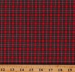 Cotton Plaid Simple Classic Plaid Dutch Sevenberry Red Cotton Fabric Print by the Yard (SB-51010D102-3Red)