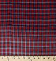 Tartan Plaid Shirting Red 42